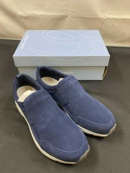 Easy Spirit Trippe Suede Low Top Pull On Fashion, Blue, Size