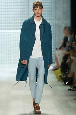 Lacoste Fashion Show Collection Stellaire Blue Jacket Trench