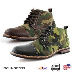 Men's Camouflage Pattern Chukka Boots Fashion Casual Mid-top