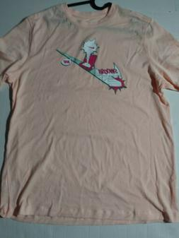 Men's Size Large Nike Swoosh Graphic T Shirt Peach Style CT6