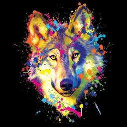 Neon Wolf  T Shirt You Choose Style, Size, Color 10741