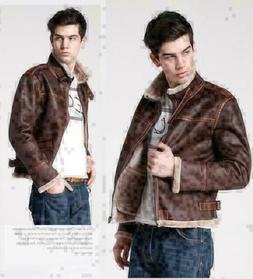 New Winter Men's Fashion Slim Fit Leather Casual Jacket Men'