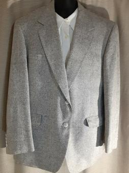 """Nordstrom """"The Natural Style"""" Gray Blazer Size 43R Made in U"""