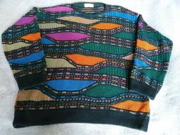 VTG  Jacques Journee  COOGI TUNDRA STYLE Colorful Sweater  S
