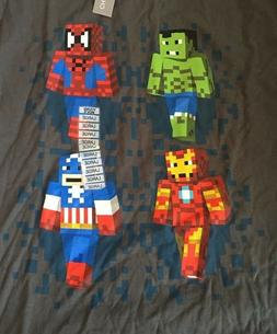 Marvel Young Mens T shirt Size L Grey Minecraft Character st